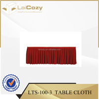 Hotel polyerster table cloths /banqueting table skirting/table cloth for wedding
