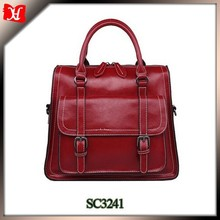 Large compartment with multiple pockets handbag women 2015