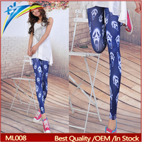 factory stretch fabric leggins big Kito Pattern sexy girl leg tight pants