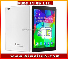 """Original Cube T9 4G tablet 9.7"""" IPS 2048x1536 MTK8752 Octa Core 2GB/32GB GPS 13.0MP Play Store 4G LTE Phone Call andriod 4.4"""