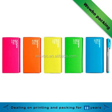 personalized colorful pen & pencil packaging paper box
