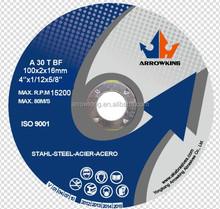 4'' 100x2x16 Flat cut off wheel for metal