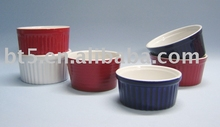 colorful mini round ceramic ramekin bakeware