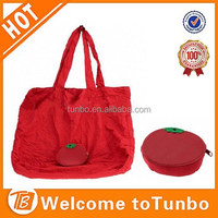 Tomato shape handbag promotional logo printed custom non woven reusable shopping bag