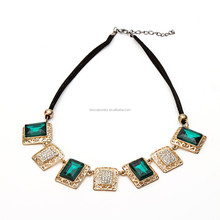 the new fashion rhinestone square necklace jewelry