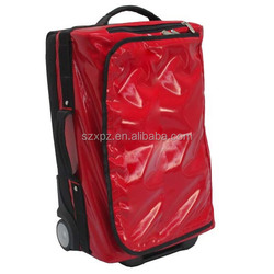 Professional 2015 Pu Travel Trolley Bags For 3 Pieces