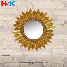 Golden di girasole resina specchio decorativo