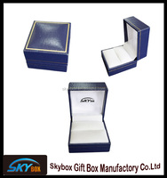 Guangdong factory direct sell PU leather jewelry box,diamond ring packaging gift box