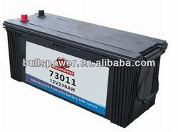 73011 DIN Standard 12v230ah dry cell car battery volta batteries