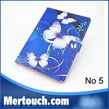 Lovely Butterfy Wallet style PU Leather case for iPad 2 3 4 Foldable PU Leather case for iPad 2 3 4 OEM