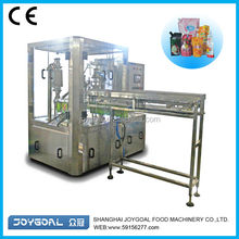 Plastic bag filling device/pouch with spout filling equipment/pouch making machine