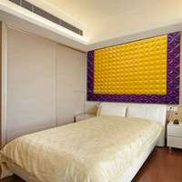 Rich in color wholesale plastic board 3D sculpture pp fluted plastic board for bed room