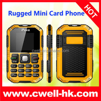 IPAKE Q8 Rugged Mini Card Size Mobile Phone GSM900/1800MHz With Bluetooth 1.3 Inch Screen Unlocked