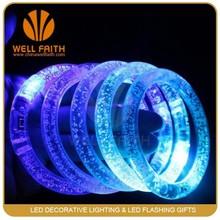 LED Acrylic Bracelet,Cheap Led Flashing Acrylic Cuff Bracelet for Party ,pub,bar,club