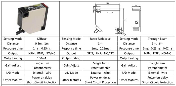 mr-e3jk omron sensor infrared counting system