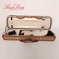 Newest Cheapest leather cover violin bow case