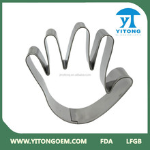 stainless steel five finger shape Cookie Cutter
