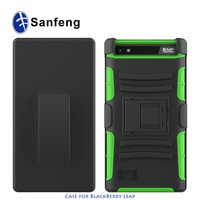 New Hot Selling!Holster kickstand combo shockproof cover case for Blackberry Leap Z20