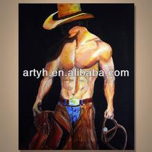 Popular handmade modern figure art gallery painting supplier --- Cowboy