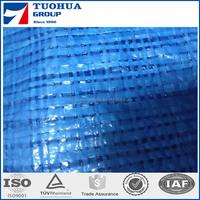 Blue Color 50g Tarpaulin With Aluminium Eyelets,Fire Resistant Tarpaulin China Qingdao Supplier