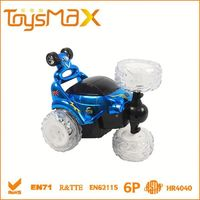 2015 360 degree spinning radio control toy car with music