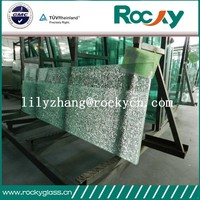 Chinese factory high quality cheap tempered broken glass cracked glass table