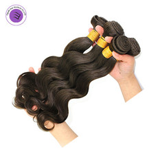 "Brazilian body wave hair 4 pieces/set cheap human hair best quality 10""-26"" #2 unprocessed virgin brazilian body wave hair"