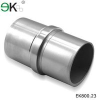 180 degree stair glass to glass round steel tube connector
