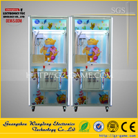 Colorful LED Light Effect Toy Gift Prize game, rubik's cube toy claw crane machine, special plush toy claw crane machine