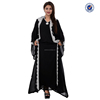 High quality long abaya muslim dress beaded chiffon dress dubai