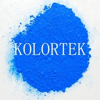 Blue pure fluorescent pigment powder for nail art, acrylic & UV gel nail pigment