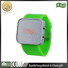 Silicone strap digital led watch ten color option