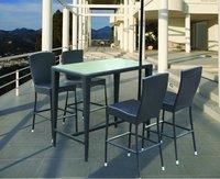 Rattan Bar Furniture Set