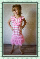 new design shirts/dress for little girls wholesale pink dress frock design for baby girl