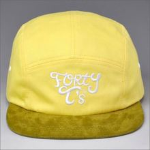 applique logo corduroy 5 panel cap hat/5 panel corduroy cap