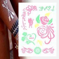 Hair Sticker Personalized Stickers Water Transfer Metallic Skin Art Tattoo Sticker
