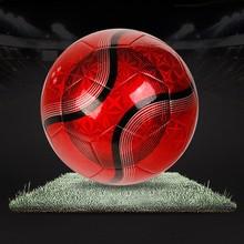 Machine stitched custom logo print leather pu football/soccer ball factory