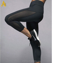 High quality 86% nylon 14% spandex custom womens fitness running leggings