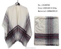 fashionable scarfs pashmina wholesale in yiwu china factory winter knited woman shawls wrap