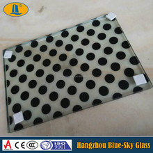 black dot silk screen tempred glass