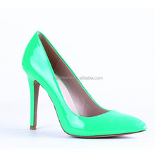 The newest fashion comfortable pointed toe high heel shoes for ladies / sexy metal cap toe leather sandal
