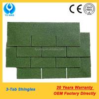 colorful asphalt shingles roofing (chateau green)