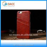 Oil wax lines phone case wallet back for iphone 6,Credit card slot back case for apple iphone 6
