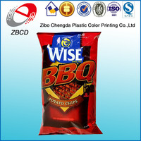 Factory directly sale and free design BBQ potato chips bag wholesale