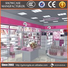 New century popular acrylic glass perfume display cabinet