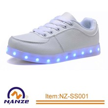 New product LED USB Charge led flashing light women factory led shoe