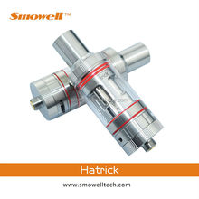New products 2015 Smowell hatrick triple coil glass atomizer fit for vv vw pipe ecig mod