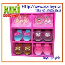 2015 más nuevas muchachas de belleza conjunto de juguete juguete moda zapatos
