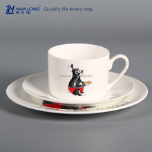 Rabbit Design Hand Painting Hotel Used Ceramic Tableware