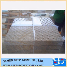 G682 Gold Granite Blind Stone Paver,Rusty Yellow Granite Tactile Tile for Sidewalk